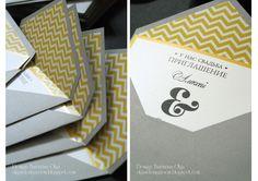 Baiciurina Olga's Design Room: Минималистичные приглашения на свадьбу-Modern wedding invitatations