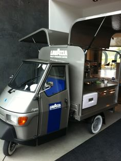 Lavazza Coffee Van - I would never be part of a franchise, but I think the fit out is a cute starting point for a small scale business...