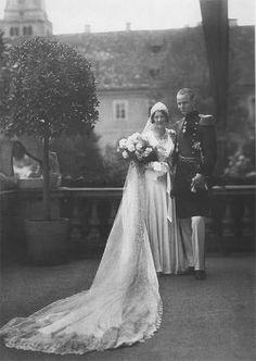 Principe Raffaele Ranieri di Thurn und Taxis e principessa Margherita di Thurn und Taxis. Maggio 21, 1932