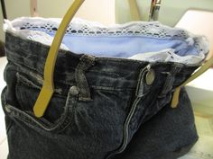 Upcycled Jeans: kleine Tote Bag | familienschnack.de