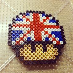 Union Jack mushroom perler beads by eternallcrafts