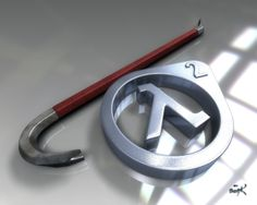 Half-Life 2 Crowbar and Lambda by SgtHK on DeviantArt The crowbar that saved the world!  #halflife #gaming