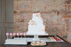 Wedding Cake next to the Cake balls