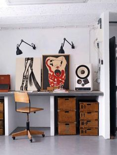 Gli spazi creativi più belli su Pinterest. Partendo dalla board dell'interior stylist Emma Fexeus ecco alcune idee per dare un tocco in più allo studio