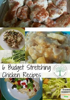 Stretch those whole chickens into 6 delicious, budget friendly meals! Here are my favorites that are filling, nourishing and so delicious!~TheHomesteadingHippy #homesteadhippy