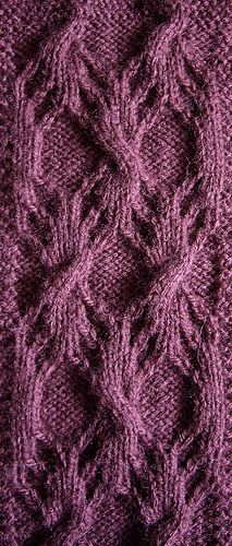 Yarn: generic wool/acrylic blend 20%/80% Wraps Per Inch: 10 wpi Needles: 3mm aluminium (prym) Gauge: 35 st and 36 rows to 10cm/4 inches in pattern Pattern: Woodgrain Pattern II Stitch Count Repeat:...