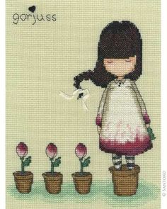 Gorjuss Counted Cross Stitch Kit - The Last Rose want this kit its so pretty