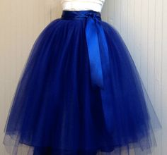 Beautiful Full Tulle Skirt: Royal Blue