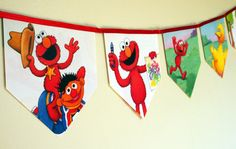 Tickle Me My Name is Elmo - Storybook Paper Bunting by MagpieSailor, $14.50