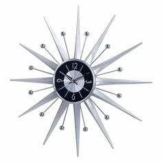 Metal Sunray Clock - Click to enlarge