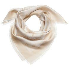 Dior Girls Gold Silk Scarf (70cm)