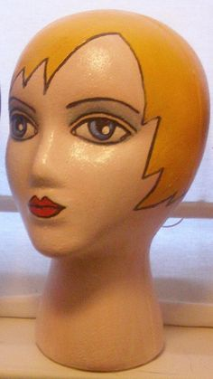painted styrofoam head - Google Search