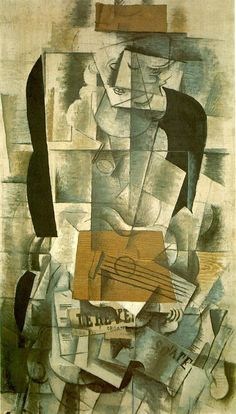 Georges Braque - Woman with guitar