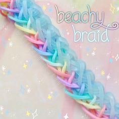 "@stearialit_looms on Instagram: ""• Beachy braid bracelet! Design: @_loominitup_ #_loominitup_ Tutorial: @daily.loomer #dloomer • #rainbowloom #rainbowloomineer…"" Rainbow Loom Bracelets Easy, Loom Band Bracelets, Rainbow Loom Tutorials, Rainbow Loom Patterns, Rainbow Loom Creations, Rainbow Loom Charms, Rubber Band Bracelet, Loom Love, Fun Loom"