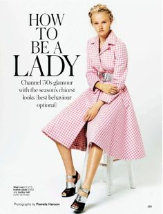 visual optimism; fashion editorials, shows, campaigns & more!: how to be a lady: emma skov by pamela hanson for uk glamour october 2013