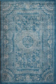 I FOUND THE RUG!Amazon.com - Light Blue Traditional French Floral Wool Persian Area Rugs 7'10 x 10'5