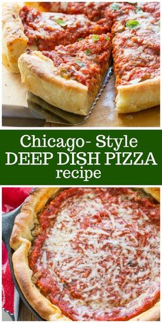 Chicago Style Deep Dish Pizza - The Best German Recipes Italian Dishes, Italian Recipes, Pizza Recipes, Cooking Recipes, Pillsbury Pizza Crust Recipes, Cooking Gadgets, Kitchen Recipes, Recipes Dinner, Chicago Style Pizza