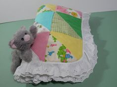 29+x+33+Baby+Quilt+Blanket+Pastel+Color+Fabric+Print+by+2lewa