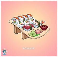 cute little sushi