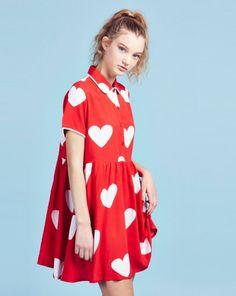 Lazy Oaf Red Heart Dress - Dresses - Categories - Womens