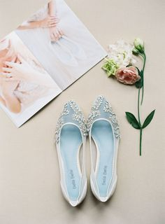 Romantic and handmade crystal embellished ivory wedding flats with hand- beaded milky teardrop rhinestones and beads. Shop comfortable wedding shoes  now! 643abf2f07b9