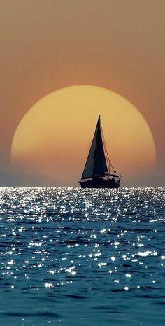 Sunset sailing. Ahhh, yes!
