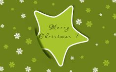 Merry Christmas wallpaper star green