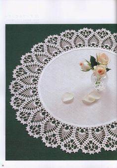 The combination of cloth and lace crocheted