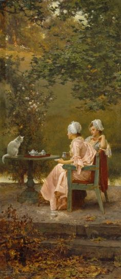 @ Anna Mitchell - this would have be US in the 1800s!  Marcus Stone, R.A. - Good Friends, 1887