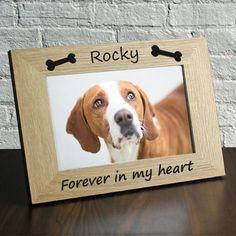 Personalized Wood Photo Frame Dog Picture Frame Personalized Pet Picture Frame, Pet Memorial Frame, Custom Photo Frame, Gift Idea