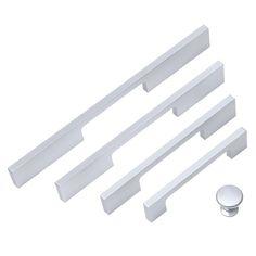 Modern Silver Solid Aluminum Kitchen Cabinet Cupboard Drawer Pull Handles Scrub Cupboard Handles, Pull Handles, Cupboard Drawers, Drawer Handles, Drawer Pulls, Aluminum Kitchen Cabinets, Aluminium Kitchen, Door Knobs, Modern
