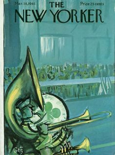 The New Yorker. A 1961 St. Patrick's Day cover by Arthur Getz.
