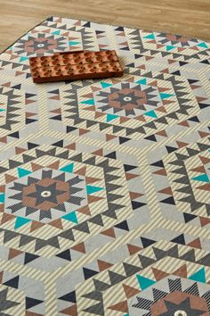 New Aztec Aqua: X metres. Please note that, as these printed rugs are mad. Rug Making, Aztec, Aqua, Rugs, South Africa, Mad, Prints, Home Decor, Farmhouse Rugs