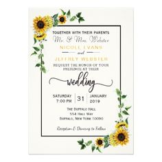 Fall Sunflower Rustic Barn Country Wedding Card - rustic country gifts style ideas diy