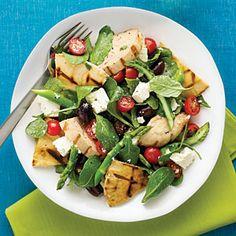 Fast & Fresh spring meals   Grilled Chicken Pita Salad   Sunset.com