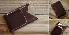 Leather Double-cross Wallets by Inkleaf | Cool Material