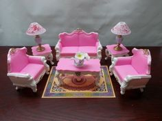 Gloria My Fancy Life Deluxe Living Room Playset - I bought this set on E-Bay. I'm planning to re-paint it.
