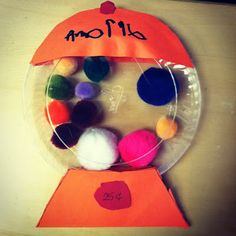 What a fun way to learn colors! Gum Ball Machines! #preschool #kidscrafts #efl (pinned by Super Simple Songs)