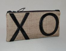 XO Cosmetic Bag in black. $25 from HKelly designs, Ltd.