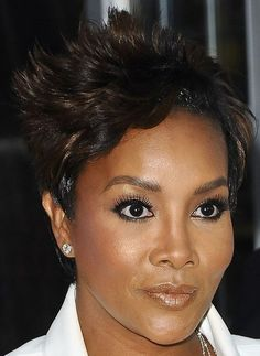 Vivica A. Fox Layered Razor Cut - Short Hairstyles Lookbook - StyleBistro Unique Hairstyles, Short Hairstyles, Fox Actress, Vivica Fox, Small Curls, Black African American, Layer Style, African American Hairstyles, African Culture