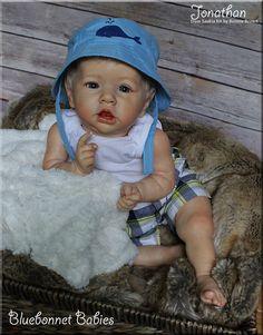 Blonde Beach Baby Boy!  Reborn doll kit Saskia by Bonnie Brown now Jonathan. On eBay only!