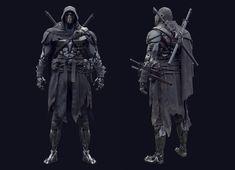 ArtStation - Cyber Ninja, Michael Weisheim Beresin Robot Concept Art, Armor Concept, Fantasy Armor, Dark Fantasy, Gi Joe, Character Concept, Character Art, Character Modeling, Ninja Armor