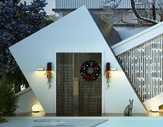A conceptual villa for Ain El Sokna , Egypt Modern Exterior House Designs, Exterior Design, Gym Interior, Villa Plan, Main Door Design, Bungalow House Design, Building Facade, Entrance Gates, Front Elevation