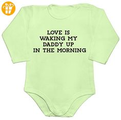 Love Is Waking My Daddy Up In The Morning Baby Romper Long Sleeve Bodysuit Medium - Baby bodys baby einteiler baby stampler (*Partner-Link)