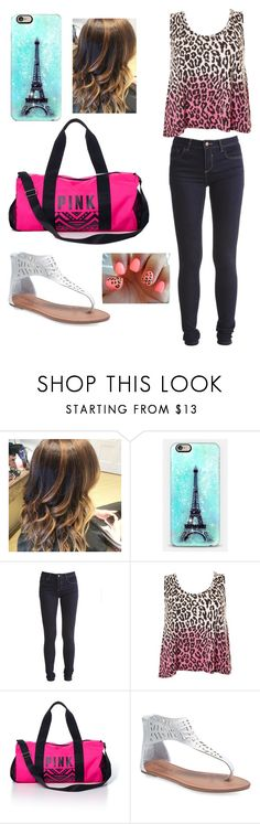 """Meeeeee"" by gymnastonbars ❤ liked on Polyvore featuring Vila Milano, Victoria's Secret PINK and Wet Seal"