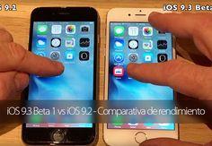iOS 9.3 Beta 1 vs iOS 9.2 - Comparativa de rendimiento en vídeo