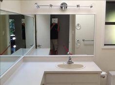 freel shaped bathroom vanity