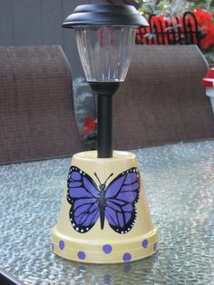 BUTTERFLY SOLAR LIGHT HOLDER MADE BY ANGELA
