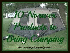10 Norwex Products to Bring Camping that will make your packing more condensed and clean up easier!