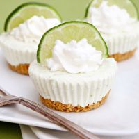 3/4 cup graham cracker crumbs  3 tablespoons butter, melted  8 ounces cream cheese, softened  1 (14 oz.) can sweetened condensed milk  1/3 cup bottled key lime juice  1 teaspoon lime zest  1 (8 oz.) container frozen whipped topping, thawed